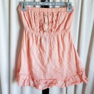 FANG size small peach/light coral sleeveless shirt